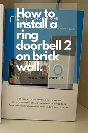 How to install a ring doorbell 2 on brick wall